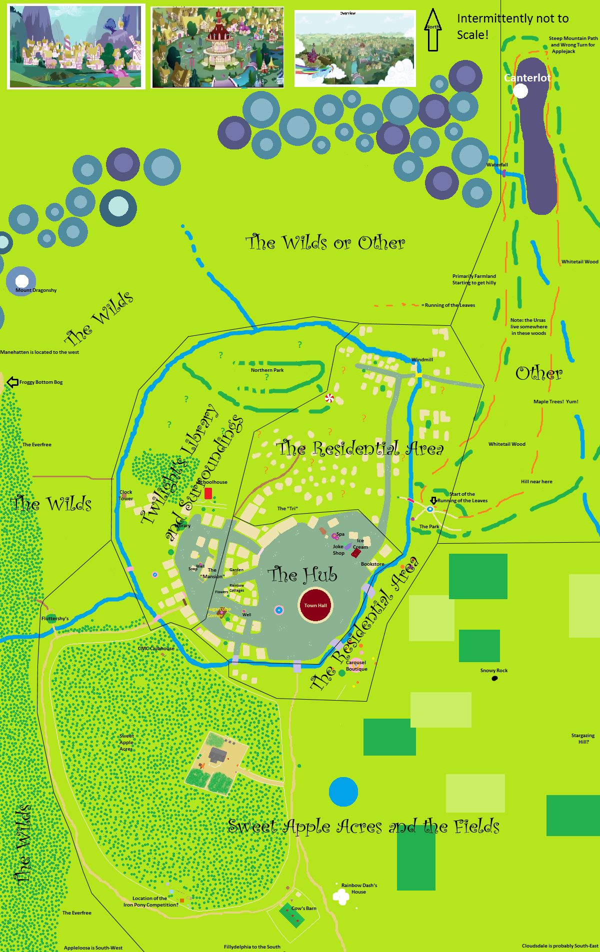 locations maps fillydelphia my little pony friendship is